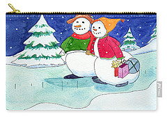 Snow Folks - Shoppers Carry-all Pouch by Katherine Miller