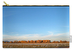 Snow Geese And Sky - Bosque - Nm Carry-all Pouch