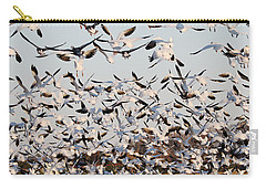 Snow Geese Takeoff From Farmers Corn Field. Carry-all Pouch