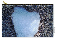 Snow Heart Carry-all Pouch