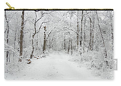 Snow In The Park Carry-all Pouch
