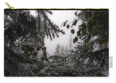 Carry-all Pouch featuring the photograph Snow In Trees At Narada Falls by Greg Reed