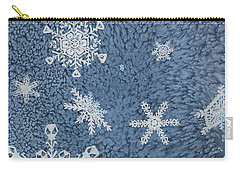 Carry-all Pouch featuring the painting Snow Jewels by Margaret Bobb