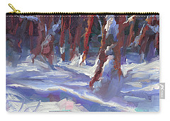 Snow Laden - Winter Snow Covered Trees Carry-all Pouch