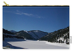 Carry-all Pouch featuring the photograph Snow Lake by Jewel Hengen
