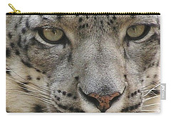 Carry-all Pouch featuring the photograph Snow Leopard by Diane Alexander