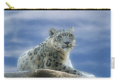 Snow Leopard Carry-all Pouch by Sandy Keeton