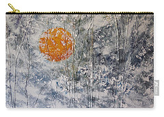 Snow Like A White Fleece Carry-all Pouch by Dan Whittemore