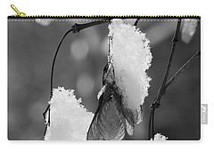 Snow On Leaves Carry-all Pouch