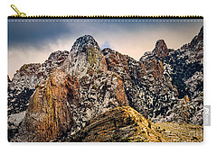 Carry-all Pouch featuring the photograph Snow On Peaks 45 by Mark Myhaver