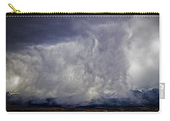 Snow On The Rockies Carry-all Pouch by Greg Reed