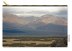 Carry-all Pouch featuring the photograph Snow Peaks by Stuart Litoff