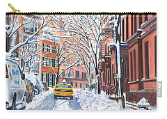 Snow West Village New York City Carry-all Pouch by Anthony Butera