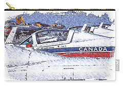 Snowbirds Carry-all Pouch by Richard Farrington