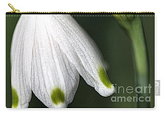 Carry-all Pouch featuring the photograph Snowdrop by Joy Watson