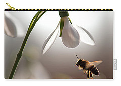 Snowdrops And The Bee Carry-all Pouch by Torbjorn Swenelius
