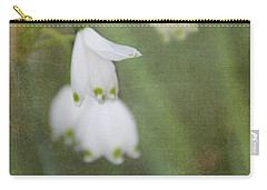 Snowdrops Carry-all Pouch by Katie Wing Vigil