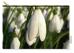 Snowdrops Carry-all Pouch by Nina Ficur Feenan