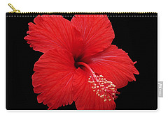 Carry-all Pouch featuring the photograph Snowflake Hibiscus by Judy Whitton