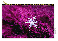 Snowflake On Magenta Carry-all Pouch