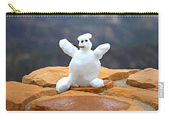 Snowman At Bryce - Square Carry-all Pouch by Gordon Elwell