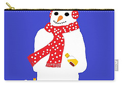 Snowman Carry-all Pouch by Barbara Moignard