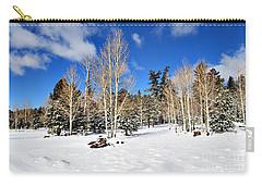 Snowy Aspen Grove Carry-all Pouch