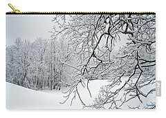 Snowy Branches Carry-all Pouch by Aimee L Maher Photography and Art Visit ALMGallerydotcom