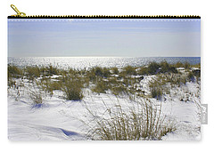 Carry-all Pouch featuring the photograph Snowy Dunes by Karen Silvestri