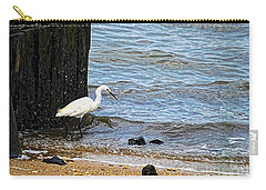 Snowy Egret At The Shore Carry-all Pouch