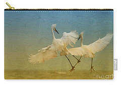Snowy Egret Dance Carry-all Pouch