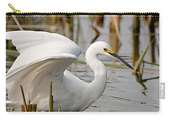 Carry-all Pouch featuring the photograph Snowy Egret by Doug Herr