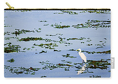 Snowy Egret Carry-all Pouch by Mike Robles