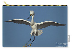Carry-all Pouch featuring the photograph Snowy Egret Photo by Meg Rousher