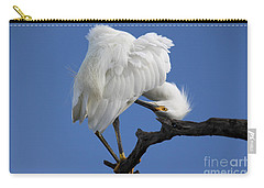 Carry-all Pouch featuring the photograph Snowy Egret Photograph by Meg Rousher