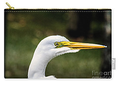 Snowy Egret Profile Carry-all Pouch