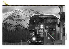 Snowy Engine Through The Rockies Carry-all Pouch