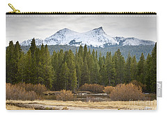 Snowy Fall In Yosemite Carry-all Pouch by David Millenheft