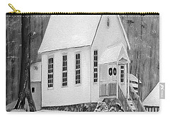 Snowy Gates Chapel -white Church - Portrait View Carry-all Pouch