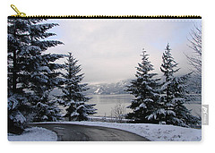 Snowy Gorge Carry-all Pouch by Athena Mckinzie