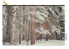 Snowy Memory Of The Woods Carry-all Pouch