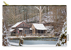 Snowy Morning In The Woods Carry-all Pouch