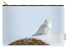 Carry-all Pouch featuring the photograph Snowy Owl by Alyce Taylor