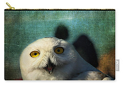 Snowy Owl Carry-all Pouch by Denyse Duhaime