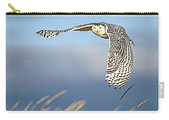 Snowy Owl Over The Dunes Carry-all Pouch