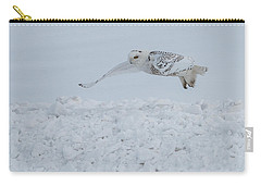 Carry-all Pouch featuring the photograph Snowy Owl #1/3 by Patti Deters