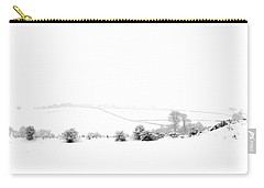 Carry-all Pouch featuring the photograph Snowy Panorama by Liz Leyden