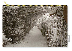 Carry-all Pouch featuring the photograph Snowy Path by Vicki Spindler
