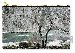 Carry-all Pouch featuring the photograph Snowy River And Bank by Belinda Greb