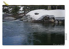 Carry-all Pouch featuring the photograph Snowy River Bend by Bobbee Rickard